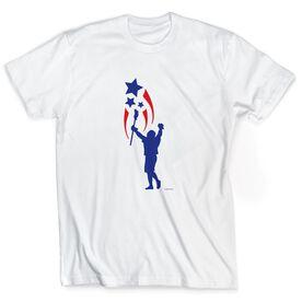 Guys Lacrosse Short Sleeve T-Shirt - USA Spirit