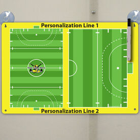 "Field Hockey Custom Dry Erase Coach Board Full And Half Field - 18"" X 12"""