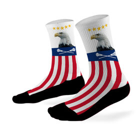 Lacrosse Printed Mid Calf Socks Bald Eagle