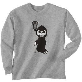 Guys Lacrosse Long Sleeve Tee - Lacrosse Reaper