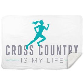 Cross Country Sherpa Fleece Blanket My Life (Female)