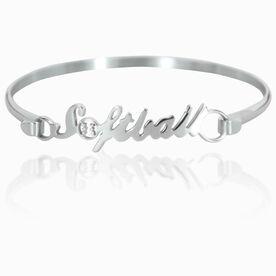 Softball Stainless Steel Bracelet