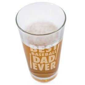 20 oz. Beer Pint Glass Best Baseball Dad Ever