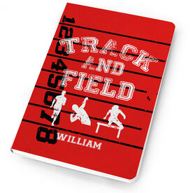 Track & Field Notebook Silhouettes