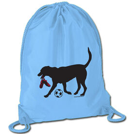 Soccer Sport Pack Cinch Sack Sammy the Soccer Dog