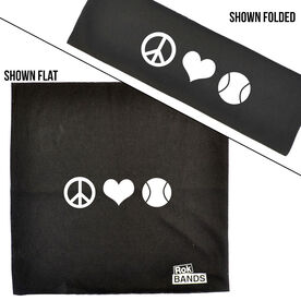 RokBAND Multi-Functional Headband - Peace Love Tennis