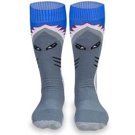 Woven Yakety Yak! Knee High Socks - Shark Attack