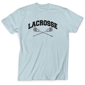 Guys Lacrosse Short Sleeve T-Shirt - Crossed Sticks