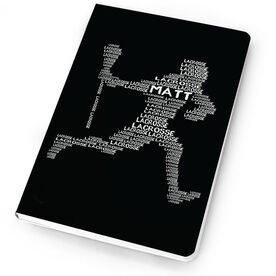 Guys Lacrosse Notebook Personalized Words