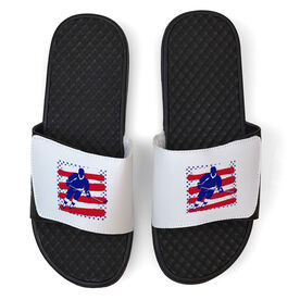 Hockey White Slide Sandals - USA Hockey