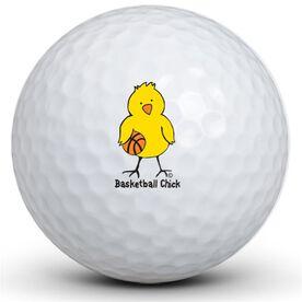 Basketball Chick Golf Balls