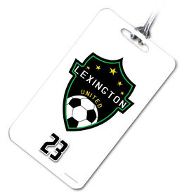 Soccer Bag/Luggage Tag Custom Soccer Logo with Team Number