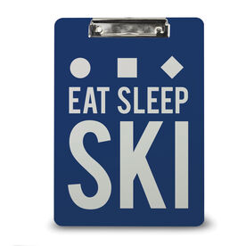 Skiing Custom Clipboard Eat Sleep Ski