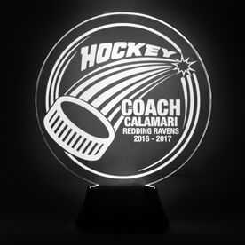 Hockey Acrylic LED Lamp Slap Shot Coach With 3 Lines
