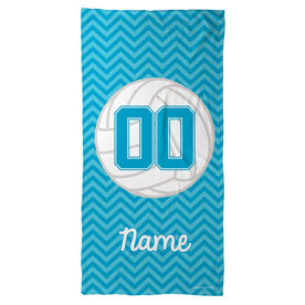 Volleyball Beach Towel Personalized with Chevron
