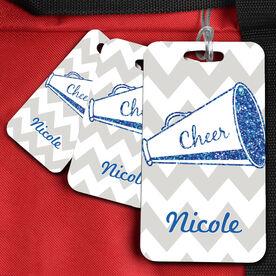 Cheer Bag/Luggage Tag Personalized Glitter Megaphone