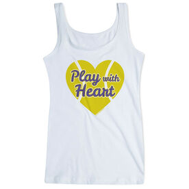 Tennis Women's Athletic Tank Top Play With Heart In Purple Glitter