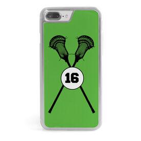 Guys Lacrosse iPhone® Case - Lacrosse Sticks Number