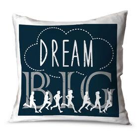 Running Throw Pillow Vintage Dream Big