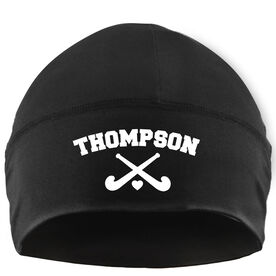 Beanie Performance Hat - Field Hockey Crossed Sticks with Text