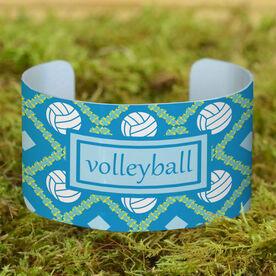 Volleyball Cuff Bracelet (Wide) Volleyball Pattern