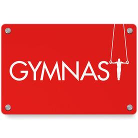Gymnastics Metal Wall Art Panel - With Rings