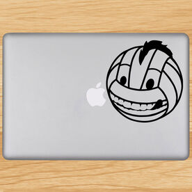 Volleyball Removable Laptop Decal Male Volleyball Character