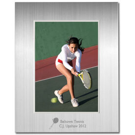 Engraved Tennis Frame Silver 5 x 7 with Tennis Icon