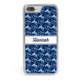 Cheerleading iPhone® Case - Personalized Megaphone Pattern