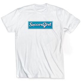 Soccer Tshirt Short Sleeve Soccer Girl Banner