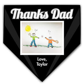 Softball Home Plate Plaque Your Artwork With Color Background