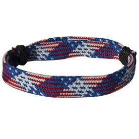 Hockey Lace Bracelet Patriotic Adjustable Wrister Bracelet