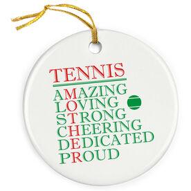 Tennis Porcelain Ornament - Mother Words