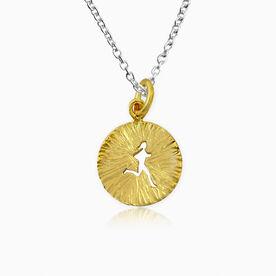 Livia Collection 14K Gold Vermeil Sunburst Runner Girl Necklace