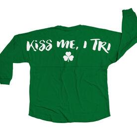 Triathlon Statement Jersey Shirt Kiss Me I Tri