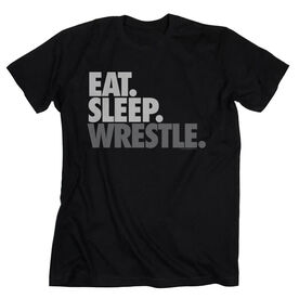 Wrestling Tshirt Short Sleeve Eat Sleep Wrestle (Stack)