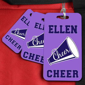 Cheer Bag/Luggage Tag Personalized Cheer Sign