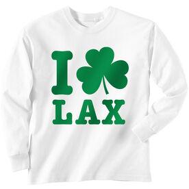 Lacrosse Long Sleeve T-Shirt - I Shamrock Lax