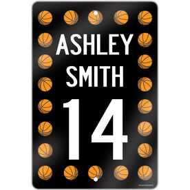 "Basketball Aluminum Room Sign Personalized Basketball Speed Sign (18"" X 12"")"