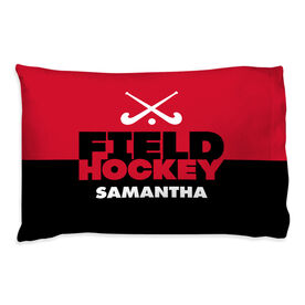 Field Hockey Pillowcase - Personalized Sticks Color Block