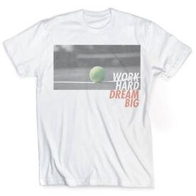 Vintage Tennis T-Shirt - Work Hard Dream Big