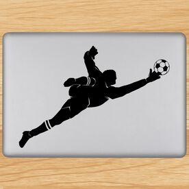 Soccer Goalie Guy Removable ChalkTalkGraphix Laptop Decal