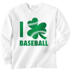 Baseball Tshirt Long Sleeve I Shamrock Baseball