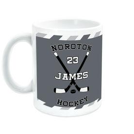 Hockey Ceramic Mug Personalized Player with Crossed Sticks