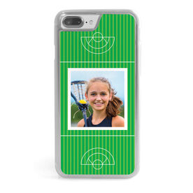 Girls Lacrosse iPhone® Case - Girls Field Your Photo