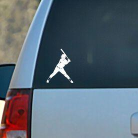Vinyl Car Decal Softball Batter