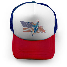Guys Lacrosse Trucker Hat Stars and Stripes