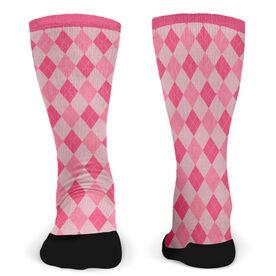 Customized Printed Mid Calf Team Socks Argyle Team
