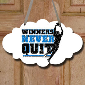 Football Cloud Sign Winners Never Quit