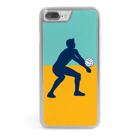 Volleyball iPhone® Case - Guy Silhouette